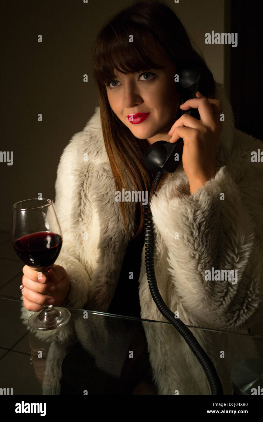 Late night call - Stock Image
