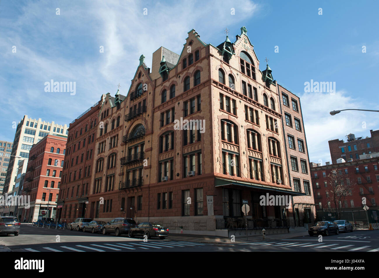 The Fleming Smith warehouse at 451 Washington St. in Tribeca was designed by Stephen Decatur Hatch. It dates from - Stock Image