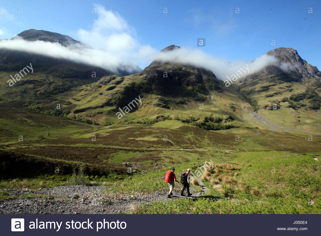 Embargoed to 0001 Tuesday April 11 File photo dated 12/06/15 of the Three Sisters mountain range in Glencoe Valley, Stock Photo