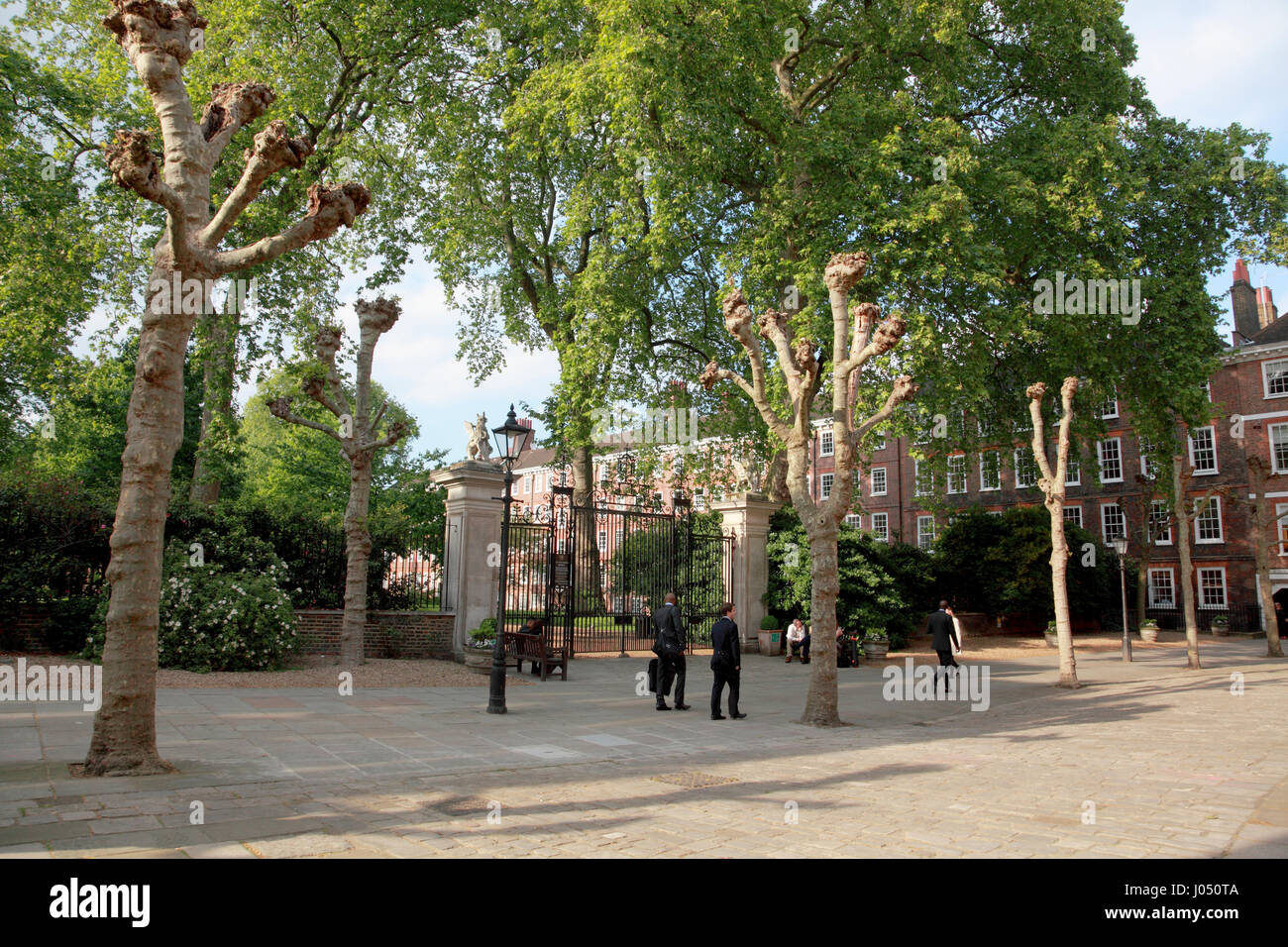 Grays Inn Square and gardens, Camden, London - Stock Image