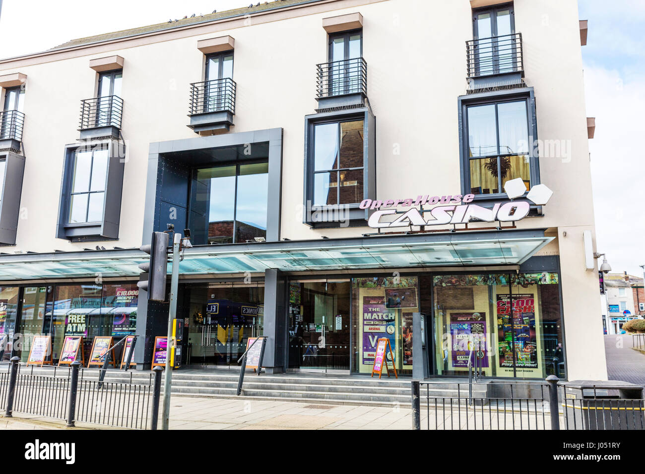 Opera house casino Scarborough Town North Yorkshire UK England Opera house casino Scarborough Town building exterior - Stock Image