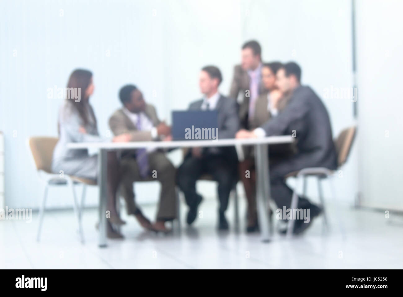 Business and office concept - smiling business team working  in  - Stock Image