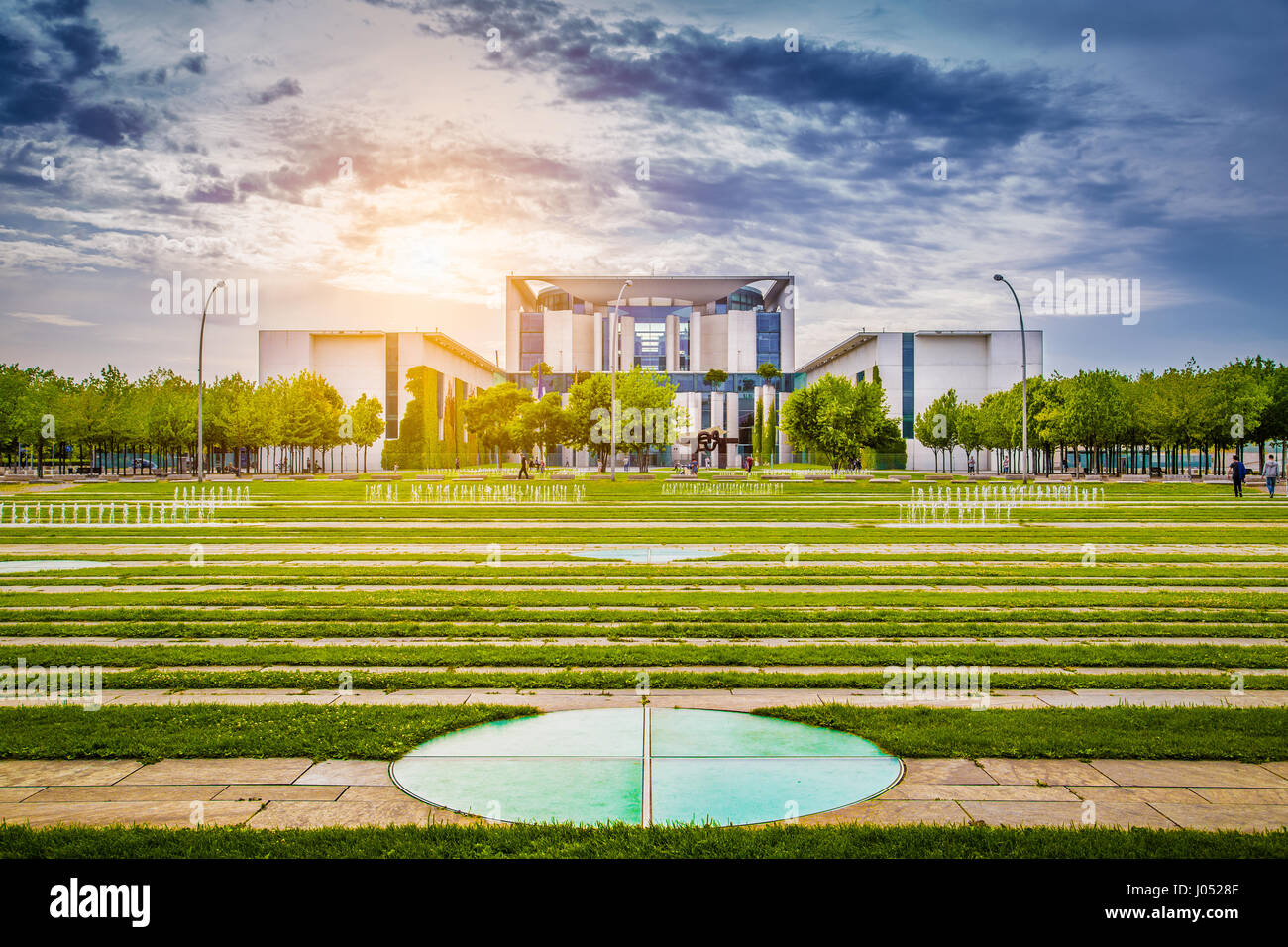 Bundeskanzleramt (German Federal Chancellery), main seat and office of Chancellor Angela Merkel and the Chancellery - Stock Image