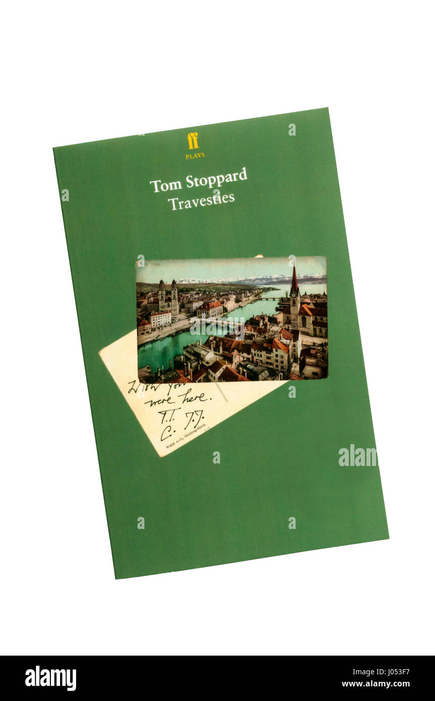 A copy of the playtext of Travesties by Tom Stoppard. Stock Photo