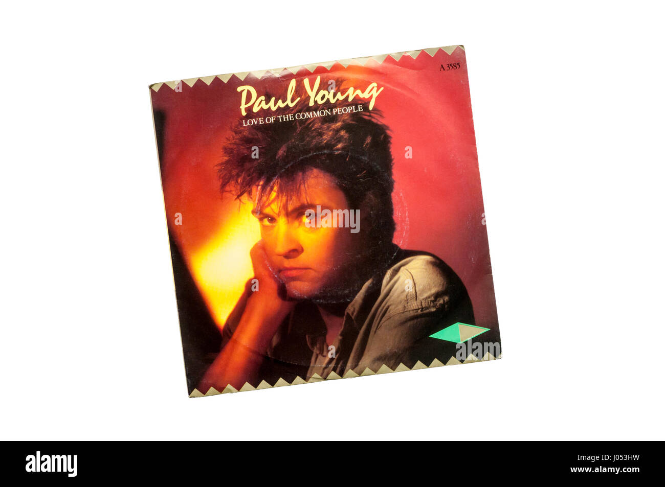 1982 7' single, Love of the Common People by Paul Young. - Stock Image