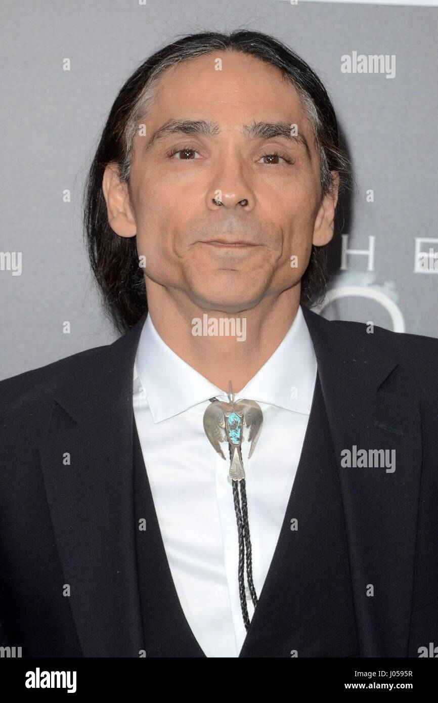 Los Angeles, CA, USA. 3rd Apr, 2017. Zahn McClarnon at arrivals for AMC's THE SON Series Premiere, ArcLight - Stock Image