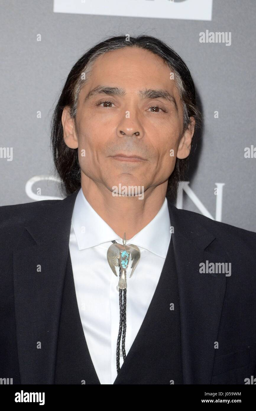 Zahn McClarnon at arrivals for AMC's THE SON Series Premiere, ArcLight Theater, Los Angeles, CA April 3, 2017. - Stock Image