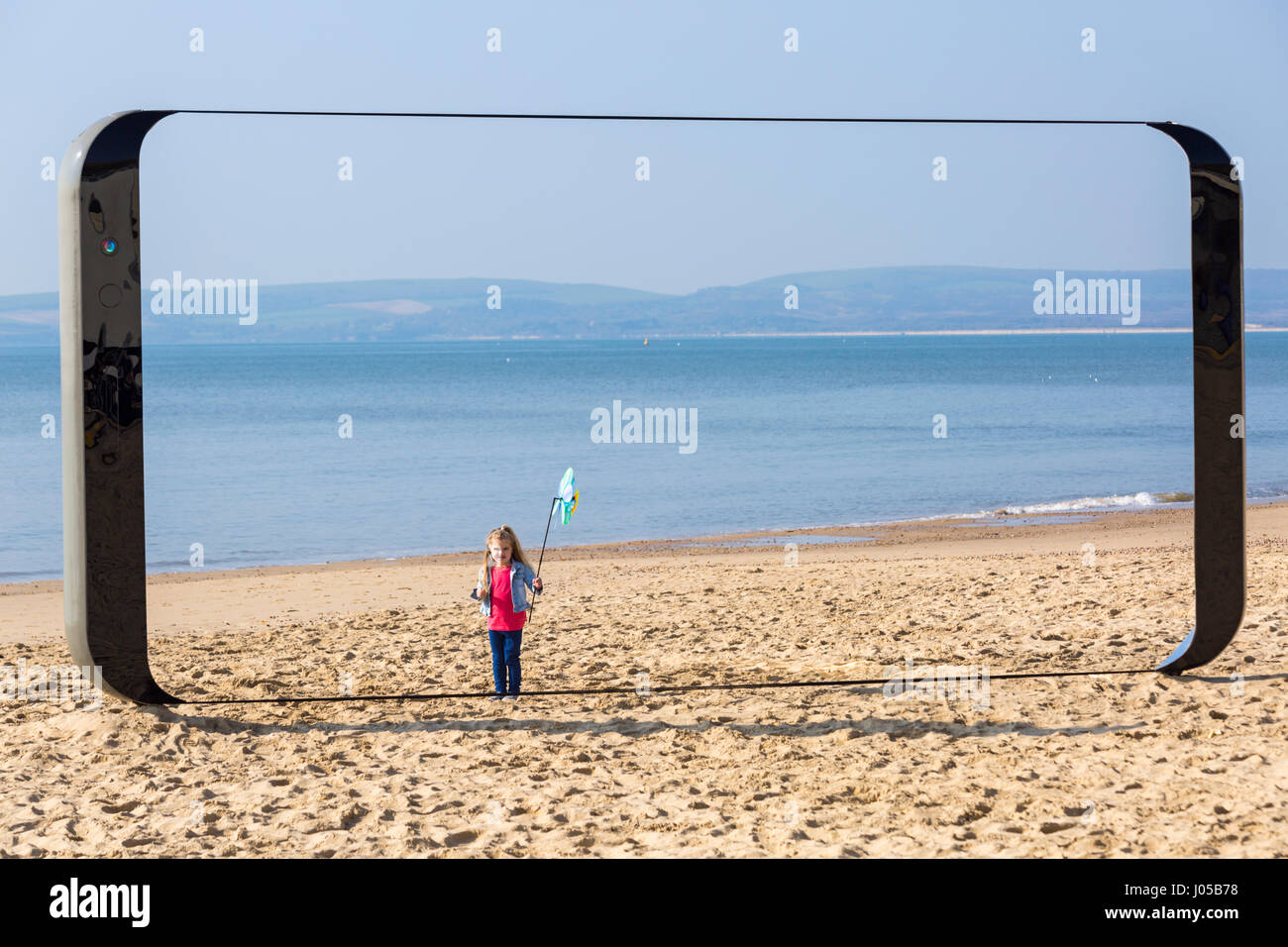 Bournemouth, UK. 6th Apr, 2017. Samsung is preparing for the biggest flagship phone launch in UK company history - Stock Image