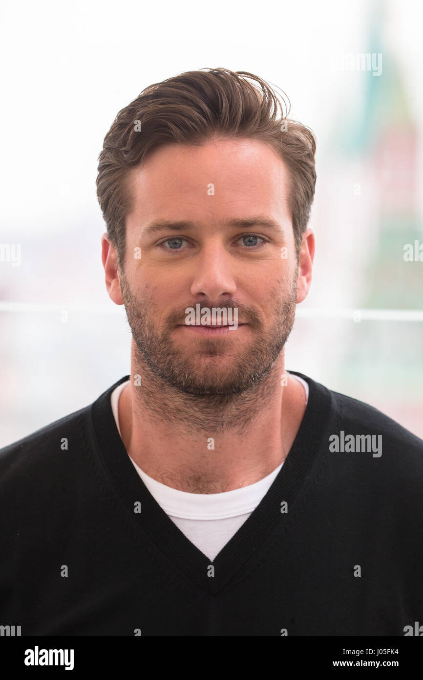 Moscow, Russia. 10nd April 2017. Hollywood actor Armie ...