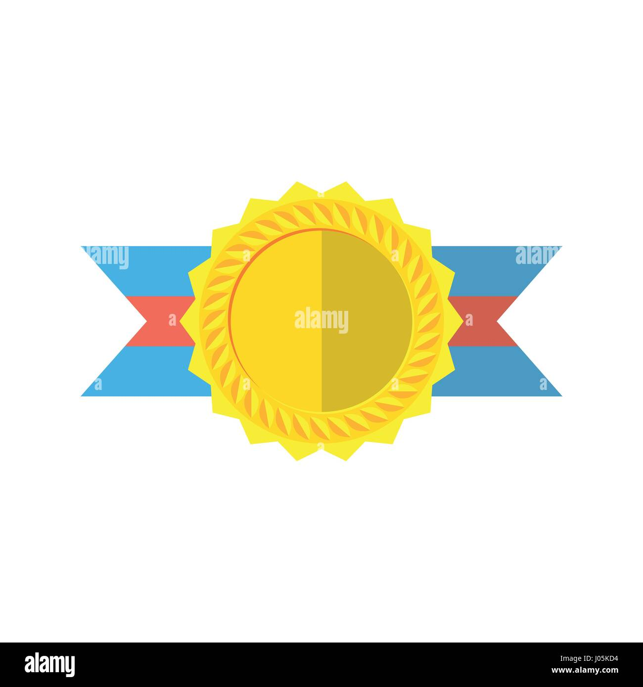 Gold Medallion Isolated On A White Background Gold Awards For First Stock Vector Image Art Alamy