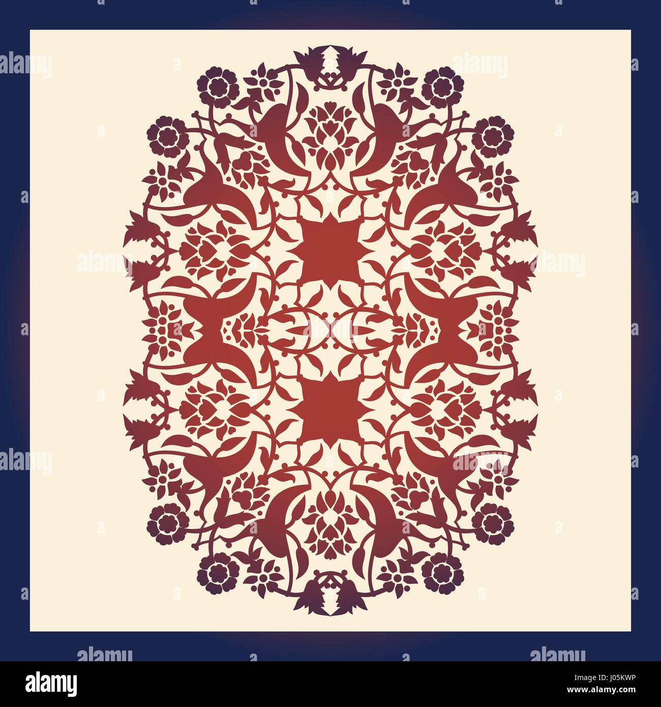Laser cut floral arabesque ornament pattern vector. Template cutting ...