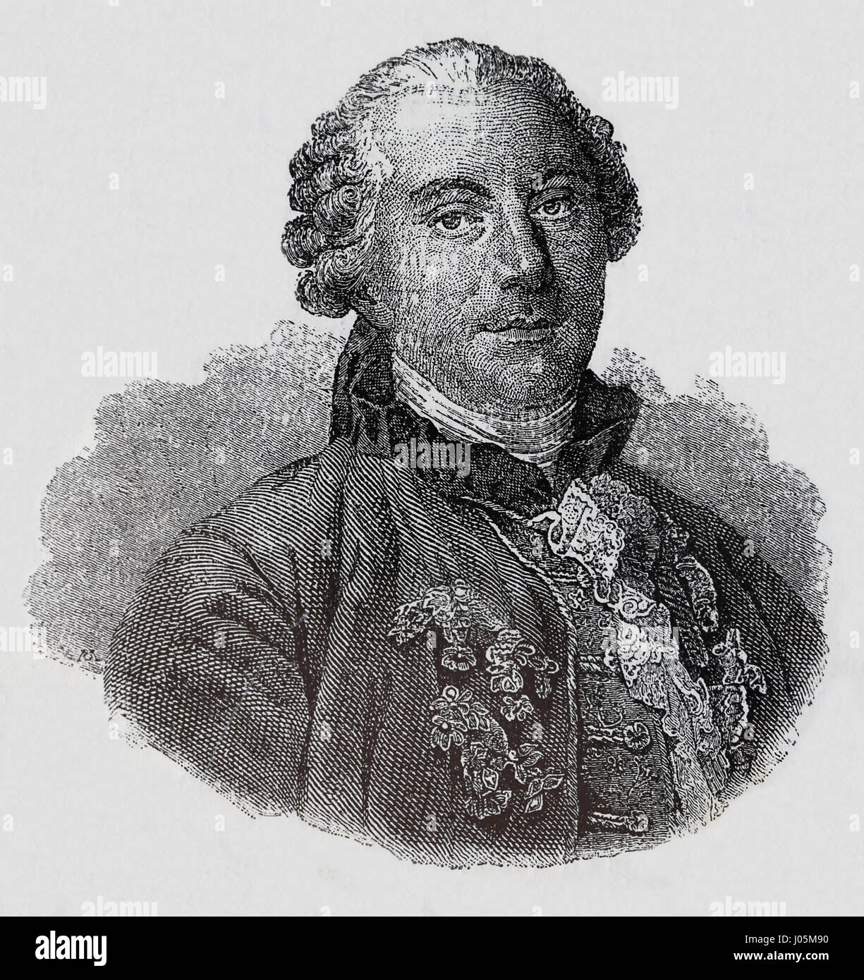 Geoge-Louis Leclerc Buffon (1707-1778). French naturalist. Engraving, Nuestro Siglo),1883.  Spanish edition Stock Photo
