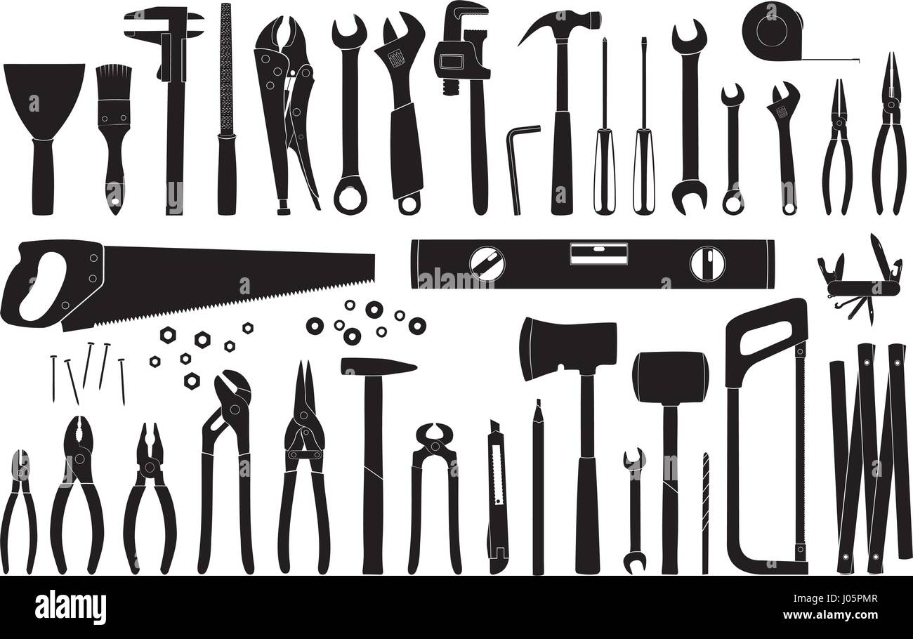 Working tools icon collection repair and construction tools stock working tools icon collection repair and construction tools collection do it yourself project vector illustration solutioingenieria Images