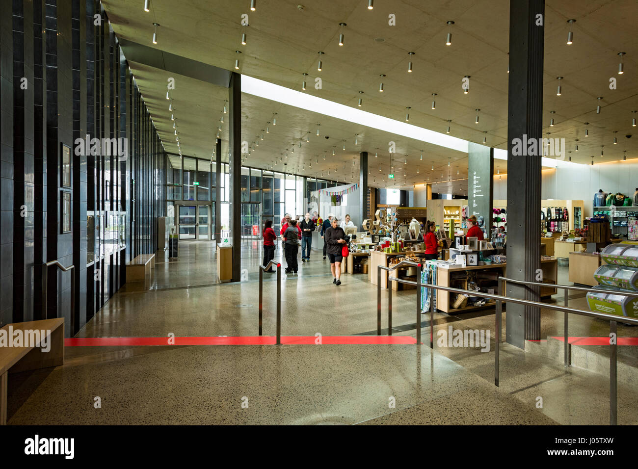 Inside the Visitor Centre, Giant's Causeway, Causeway Coast, County Antrim, Northern Ireland, UK - Stock Image