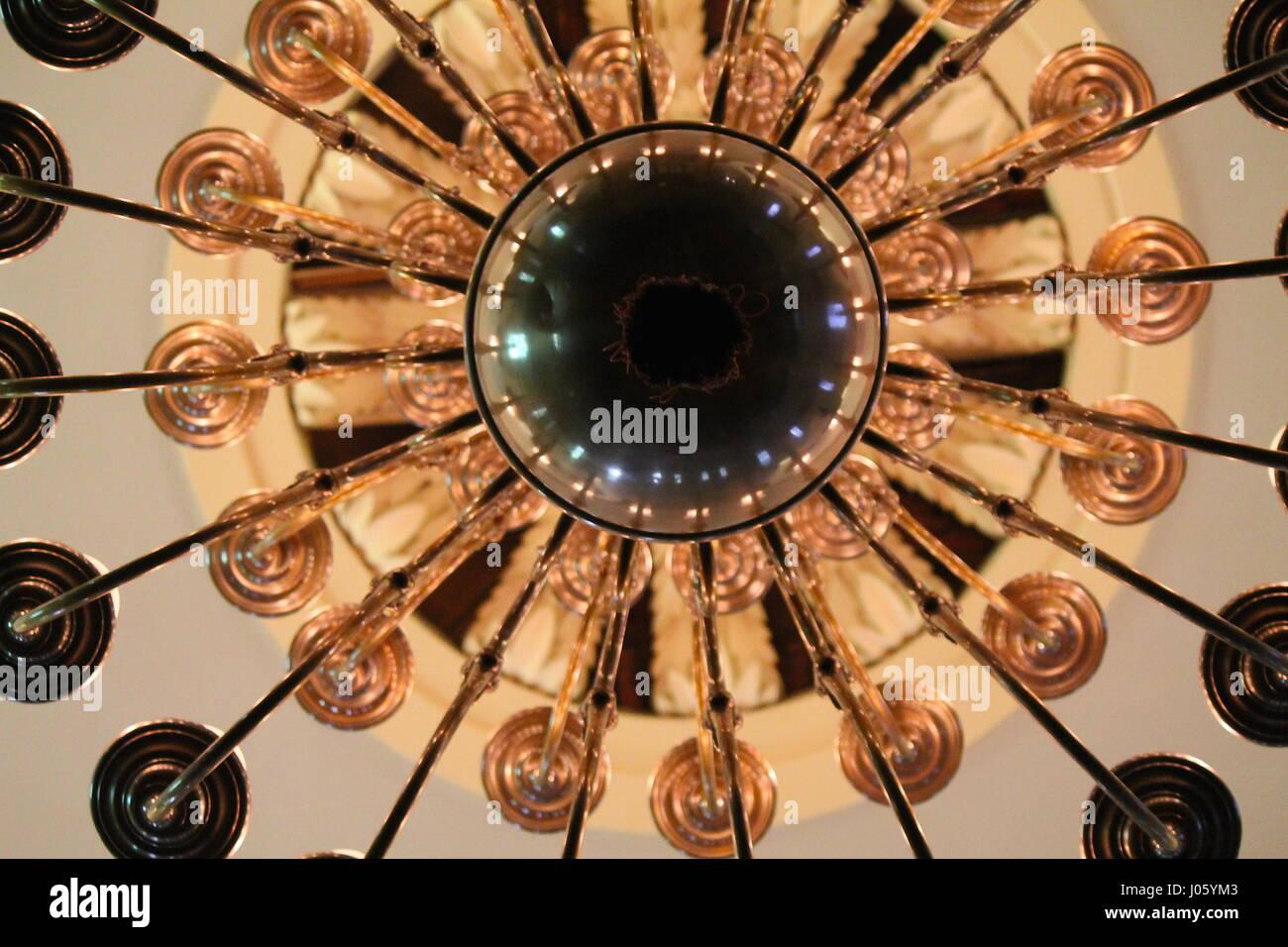 Bronze Radial light fixture - Stock Image
