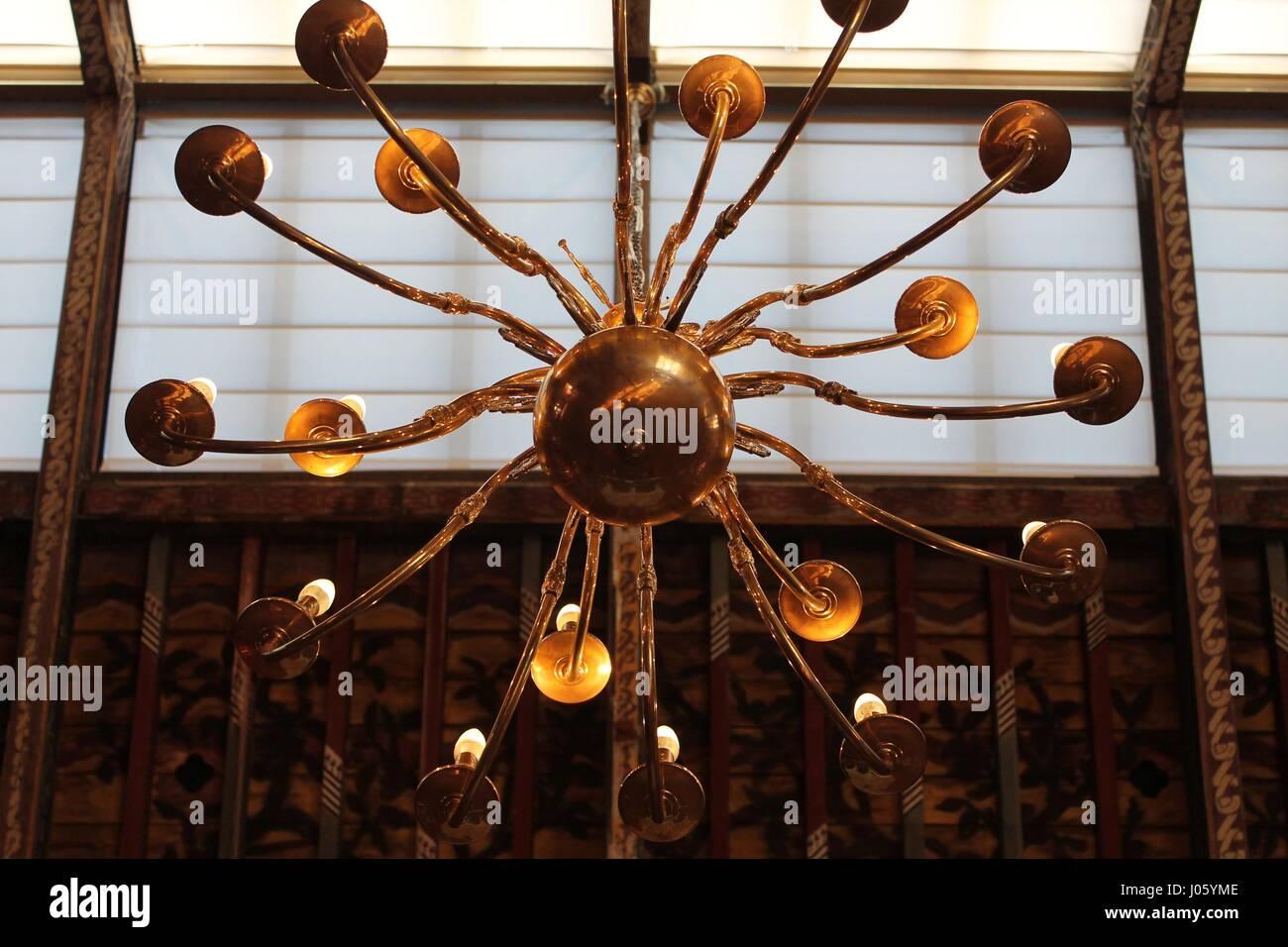 Radial Sun Light Fixture - Stock Image