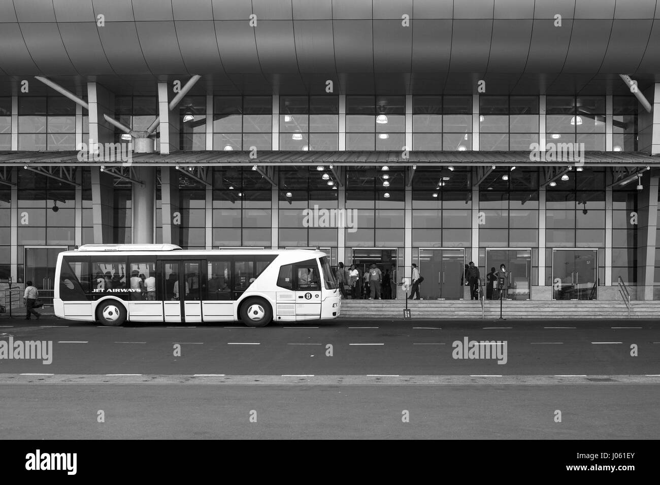 Chhatrapati shivaji domestic airport departing gate, mumbai, maharashtra, india, asia - Stock Image