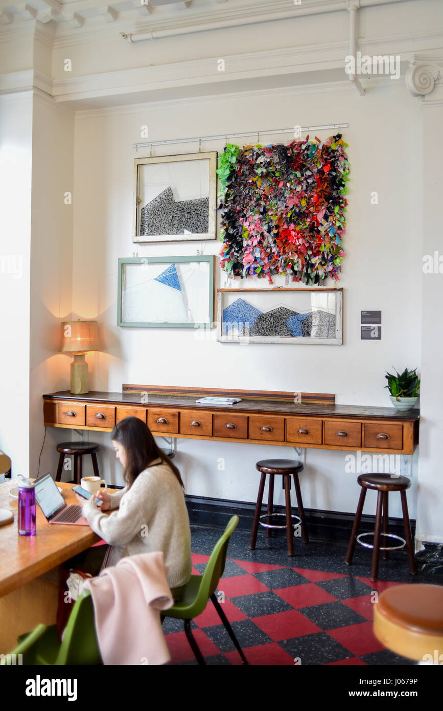 USA Pennsylvania PA The Ace Hotel in a renovated old YMCA - Stock Image