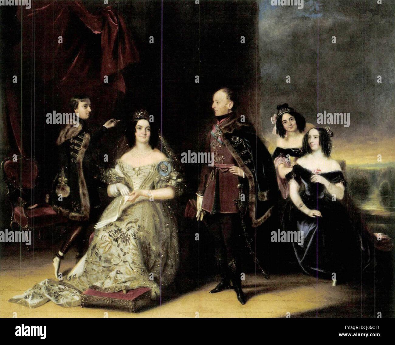 Prince Pál Antal Esterházy and his Family c. 1832 Stock Photo