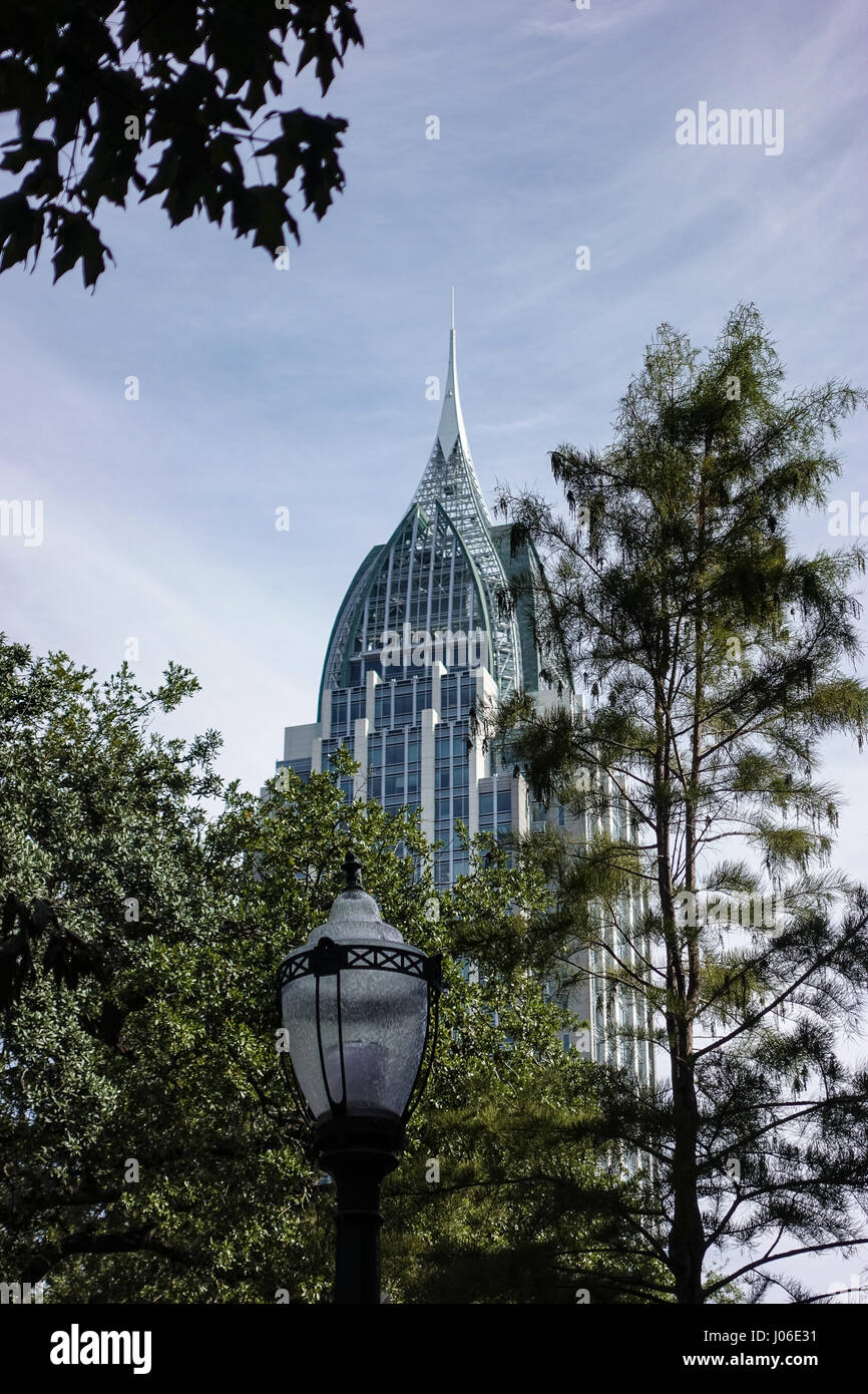 The RSA Battle House Tower in Mobile is the tallest building in Alabama - Stock Image