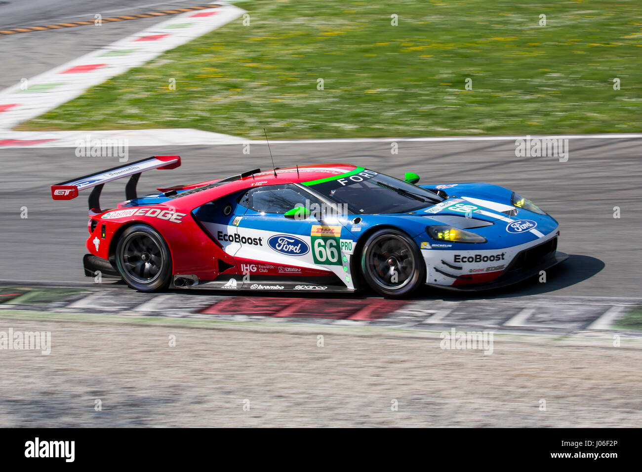 Monza Italy April   Ford Gt Of Ford Chip Ganassi Team Driven By S Mucke And O Pla During The Fia World Endurance Championship Official T