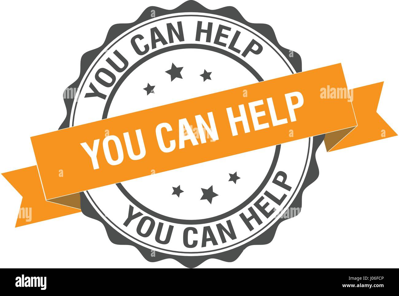 You can help stamp illustration - Stock Image