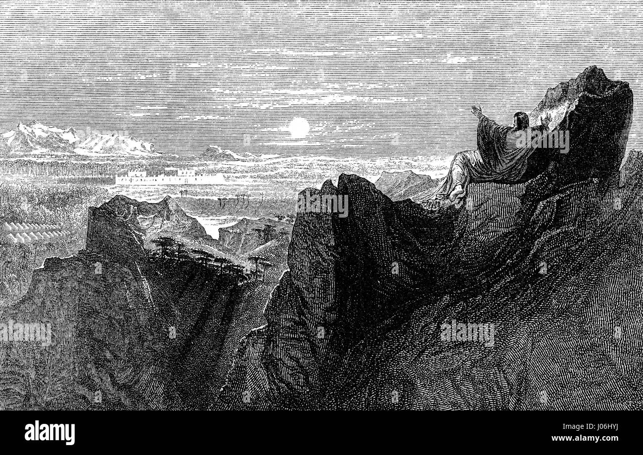 The Death of Moses, Old Testament, Hebrew Tanakh - Stock Image