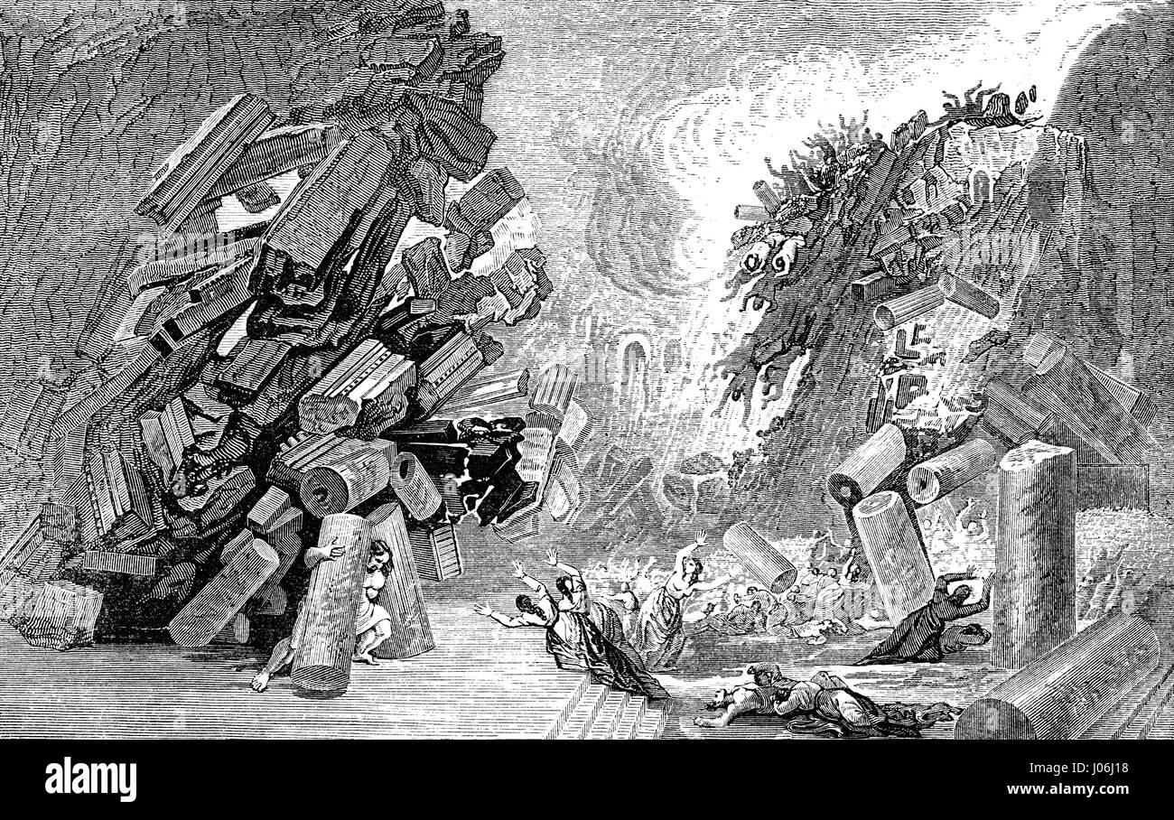 The Death of Samson, Book of Judges, Old Testament, Hebrew Tanakh - Stock Image