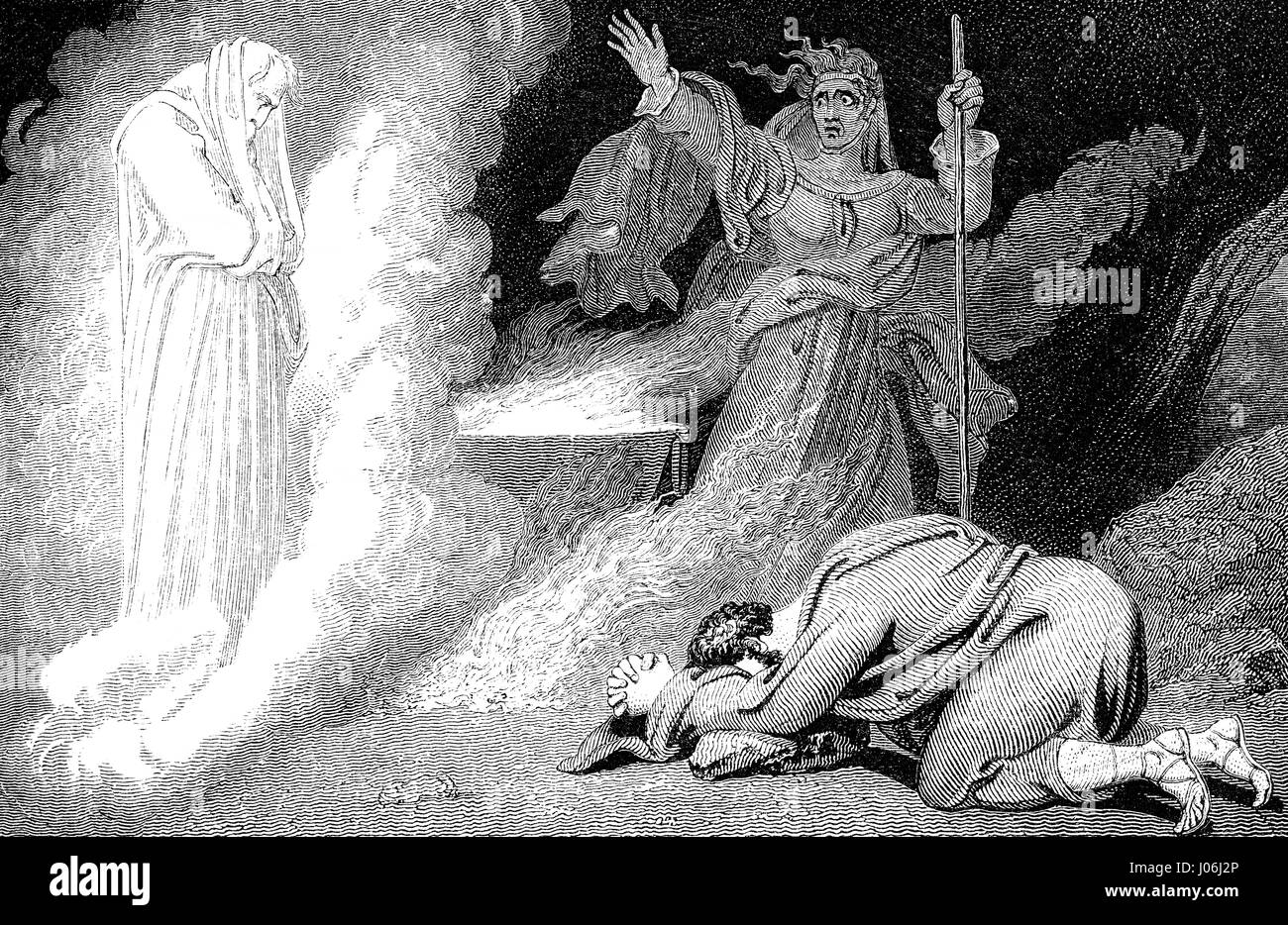 Saul and the Witch of Endor, First Book of Samuel, Old Testament, Hebrew Tanakh - Stock Image