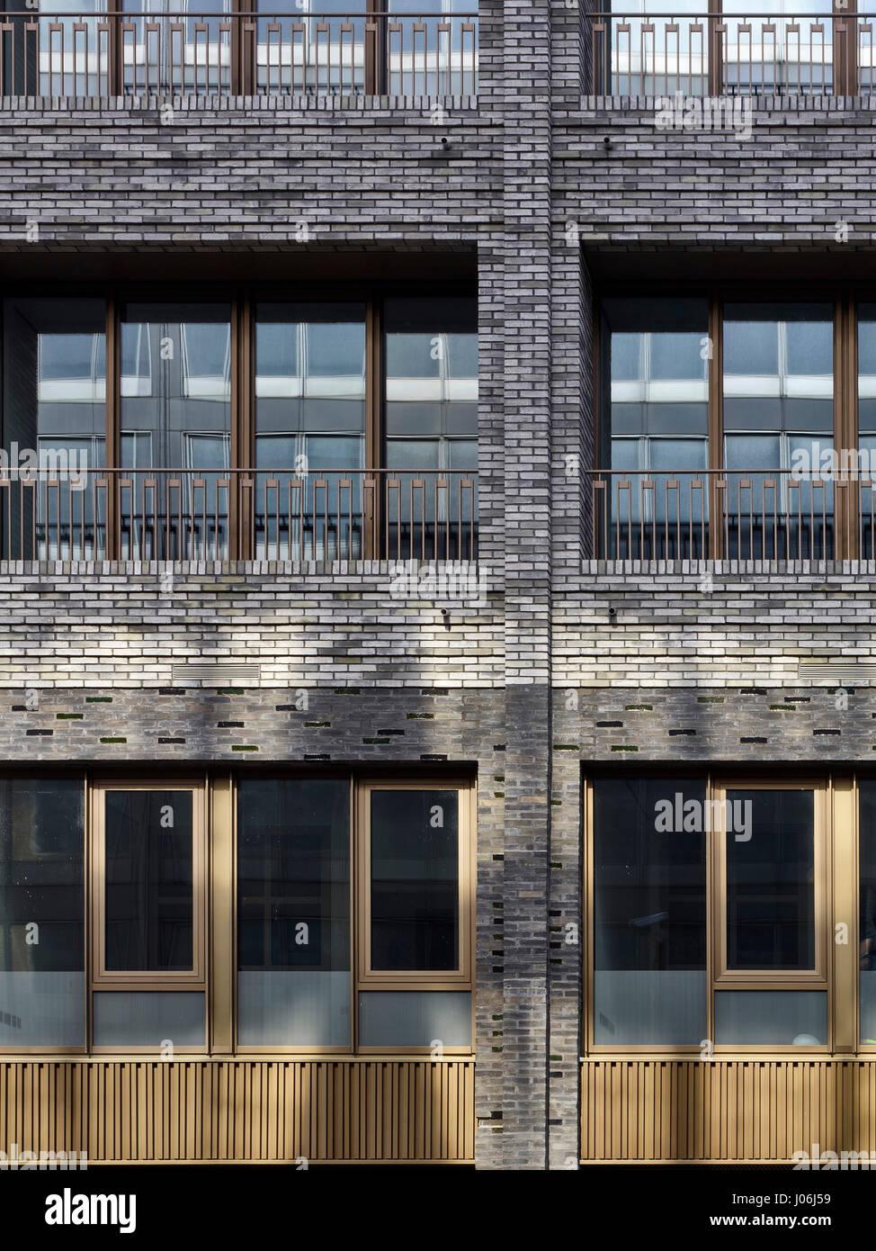Elevation study. 55 Victoria Street, London, United Kingdom. Architect: Stiff + Trevillion Architects, 2016. - Stock Image