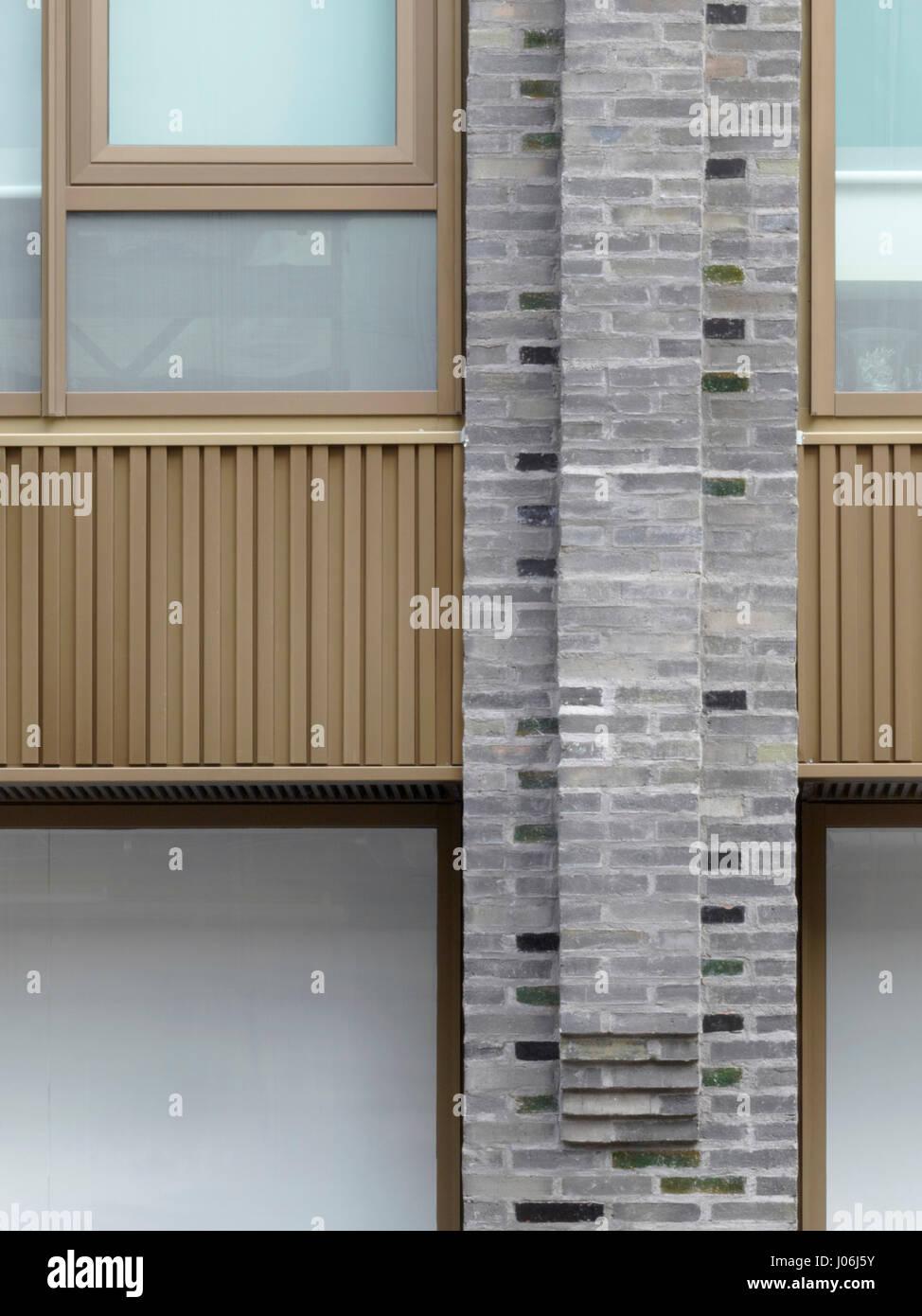 Detail of elevation. 55 Victoria Street, London, United Kingdom. Architect: Stiff + Trevillion Architects, 2016. - Stock Image