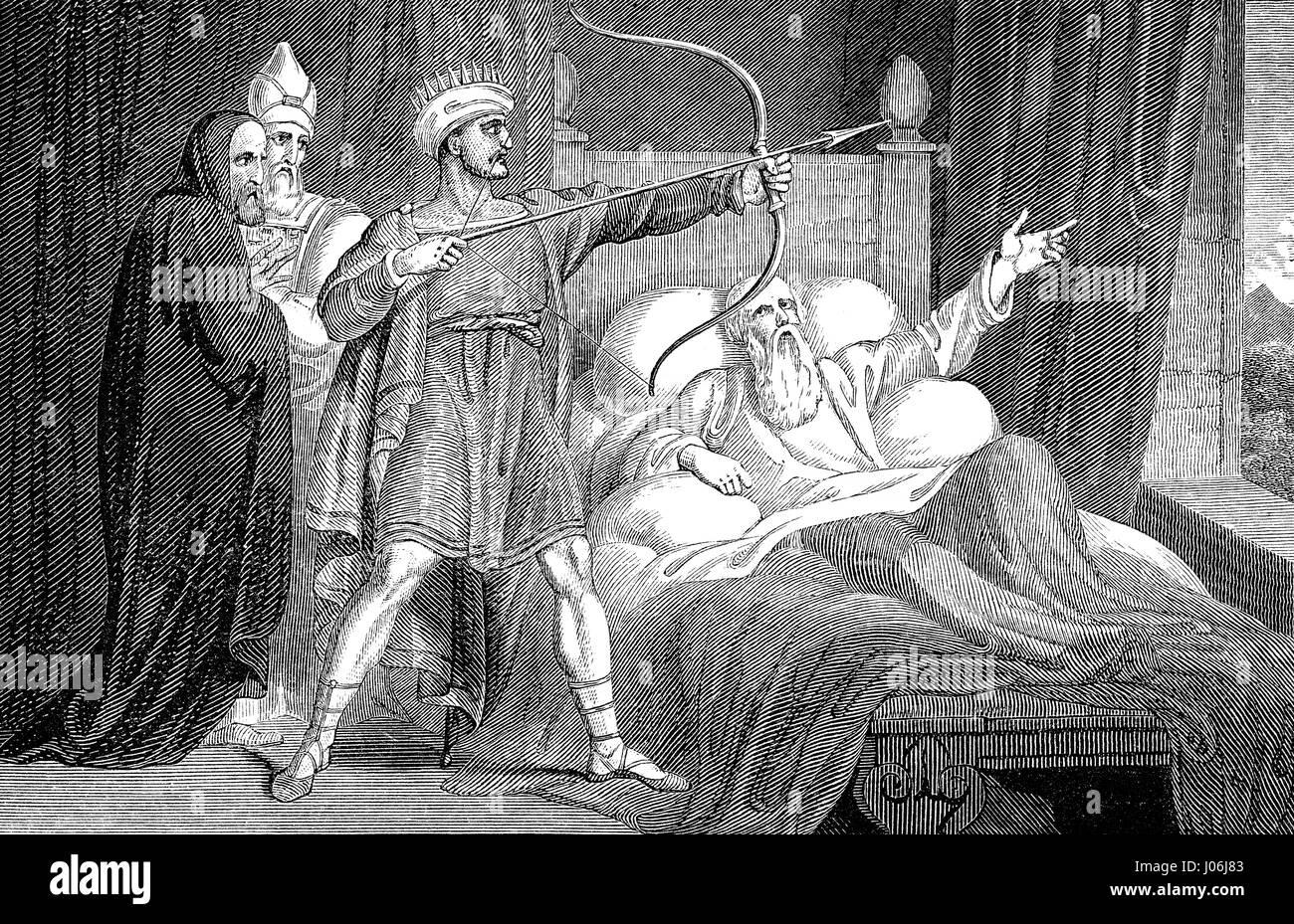 The death of Elisha, Old Testament, Hebrew Tanakh - Stock Image