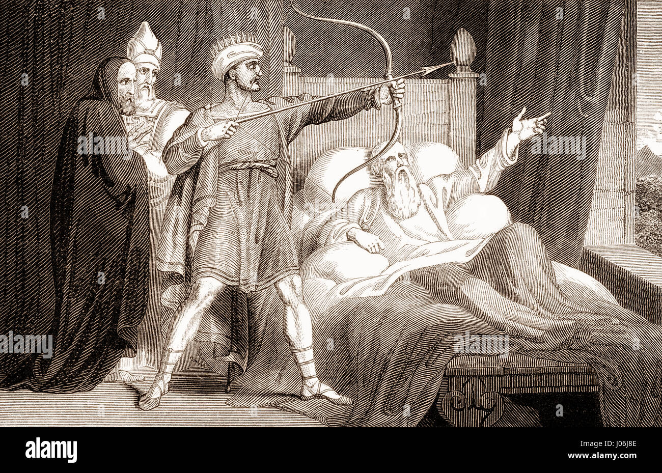 The death of Elisha, Old Testament, Hebrew Tanakh - Stock Image