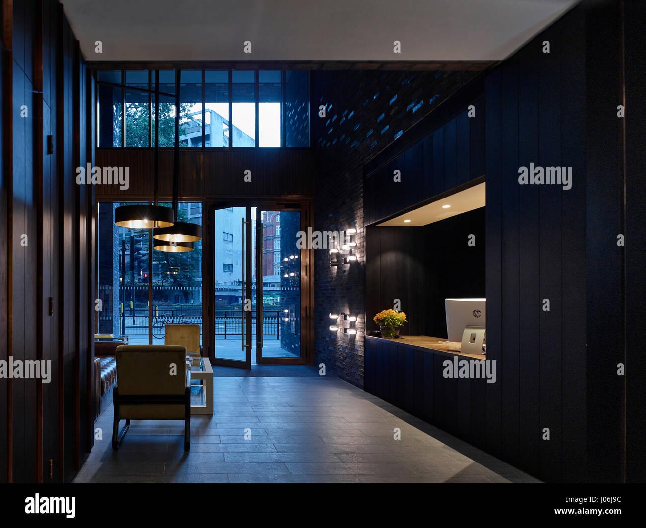 Reception. 55 Victoria Street, London, United Kingdom. Architect: Stiff + Trevillion Architects, 2016. - Stock Image