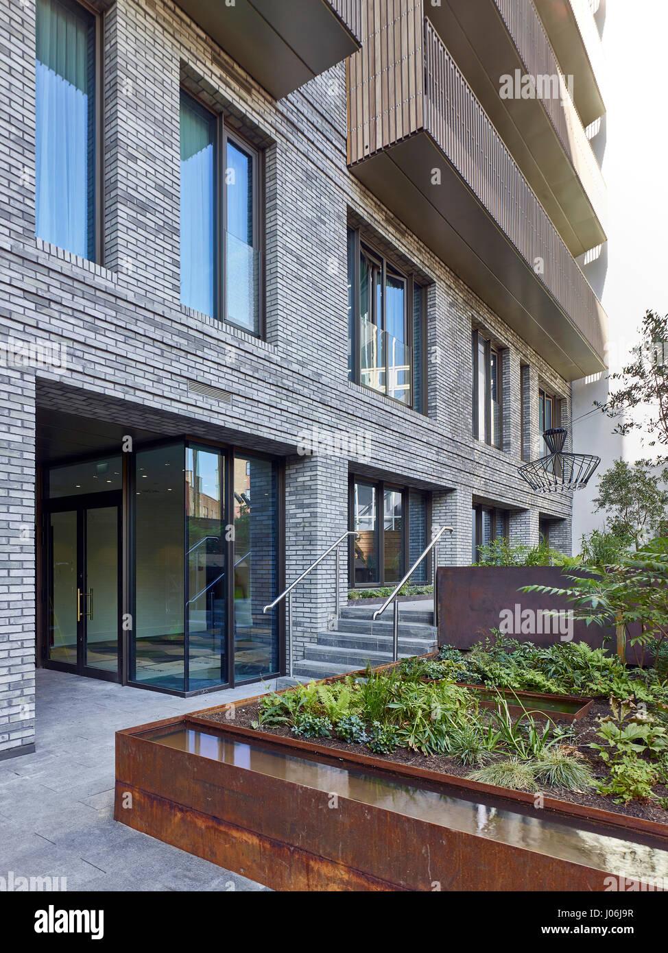 Garden. 55 Victoria Street, London, United Kingdom. Architect: Stiff + Trevillion Architects, 2016. - Stock Image