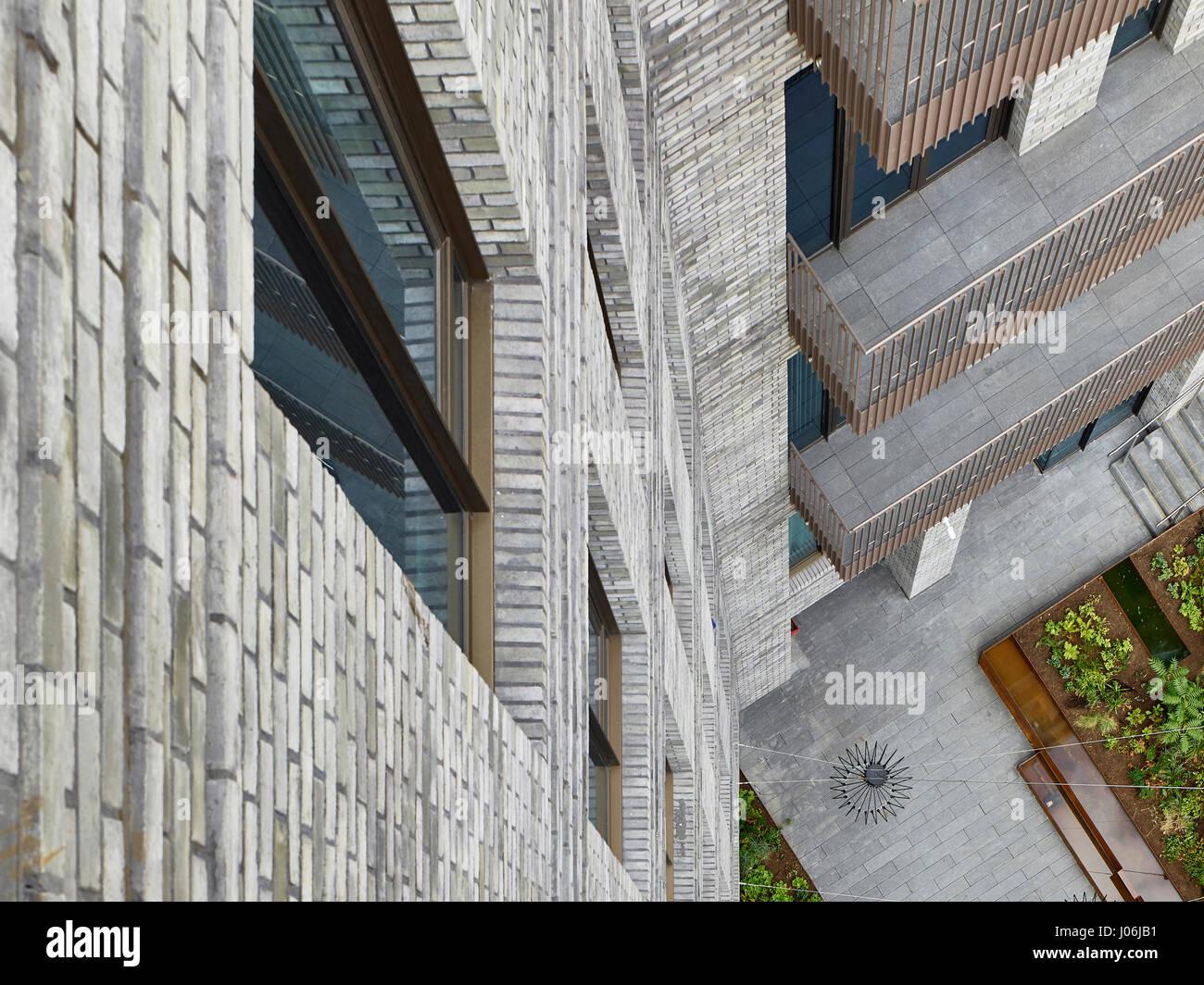 Balconies. 55 Victoria Street, London, United Kingdom. Architect: Stiff + Trevillion Architects, 2016. - Stock Image
