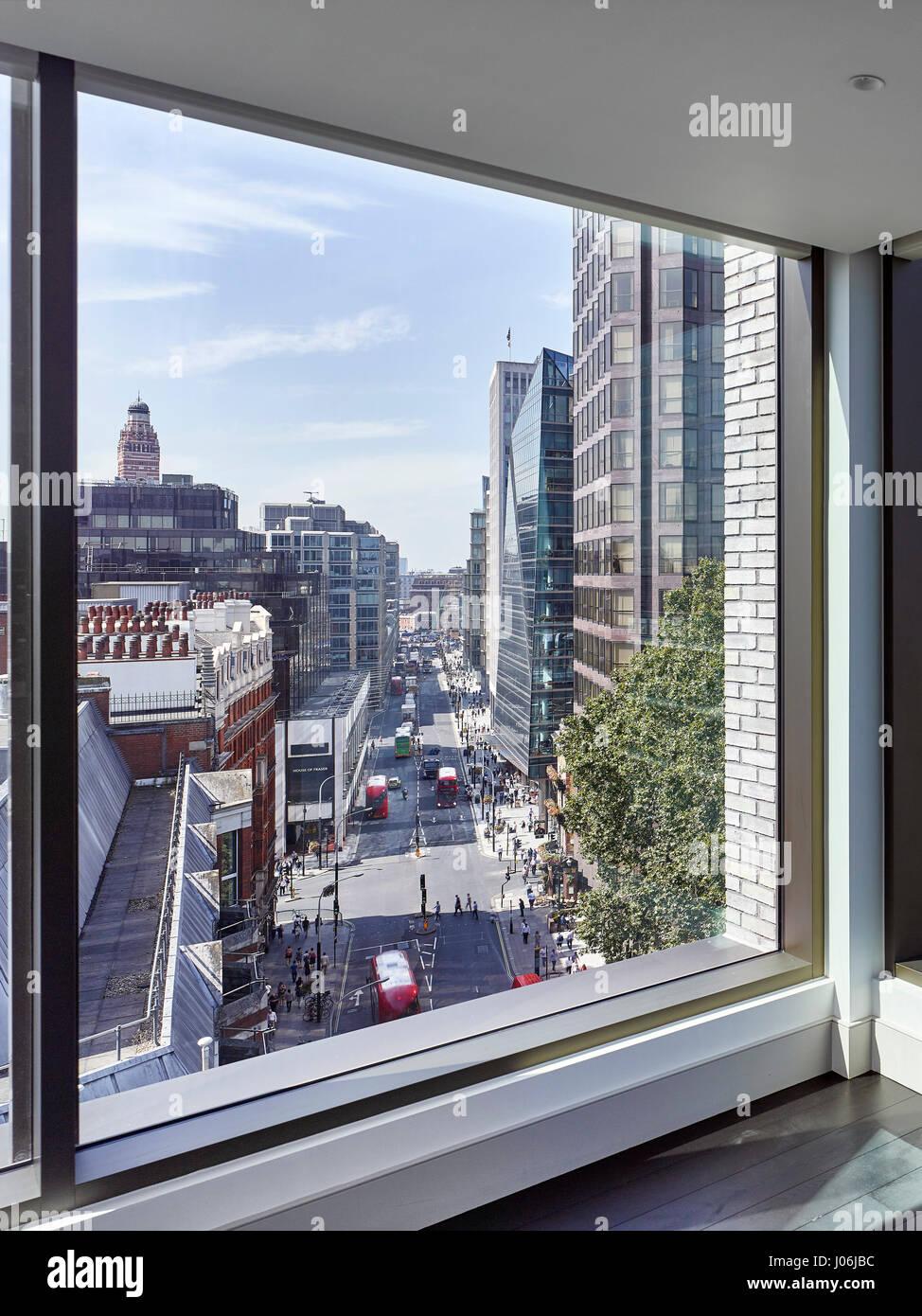 Framed view. 55 Victoria Street, London, United Kingdom. Architect: Stiff + Trevillion Architects, 2016. - Stock Image