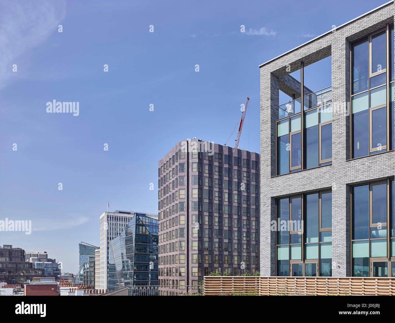 Cityscape. 55 Victoria Street, London, United Kingdom. Architect: Stiff + Trevillion Architects, 2016. - Stock Image