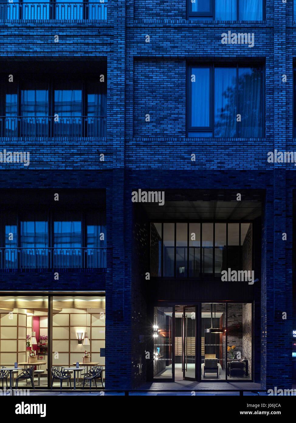 Entrance. 55 Victoria Street, London, United Kingdom. Architect: Stiff + Trevillion Architects, 2016. - Stock Image