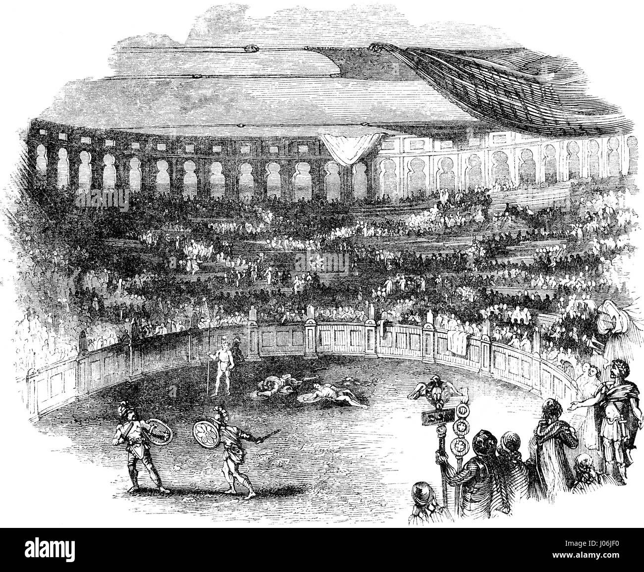 The Games of Herod the Great in the theatre of Caesarea Maritima - Stock Image