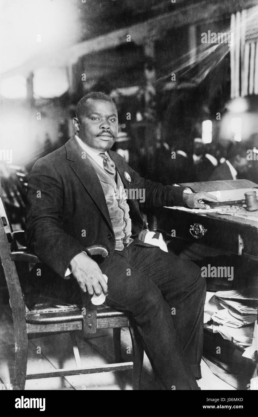 Marcus Garvey (1887-1940), Jamaican-Born Activist, Political Leader, Publisher, Entrepreneur and Proponent of Black - Stock Image