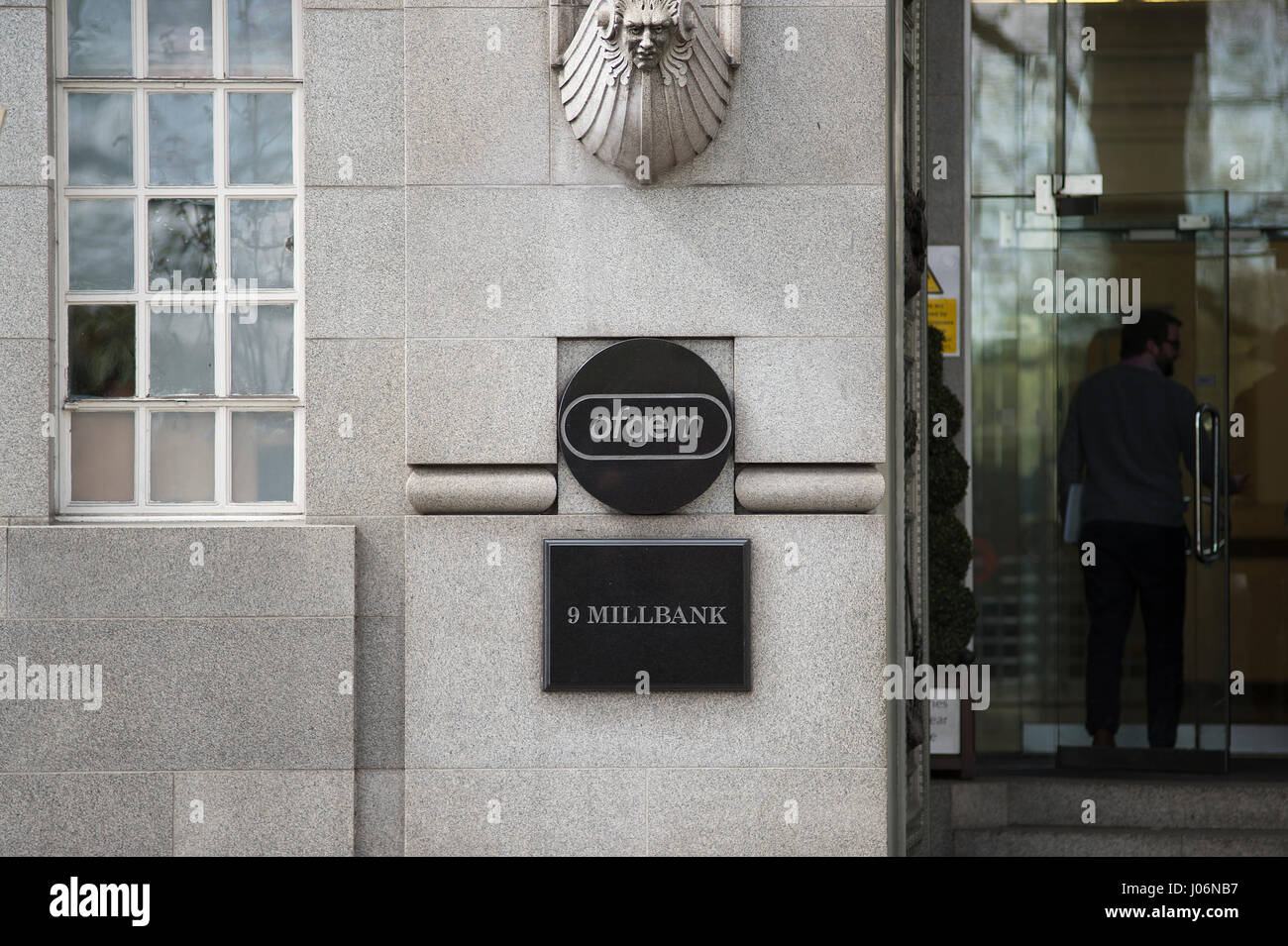 The government regulator for gas and electricity markets in Great Britain, Ofgem, 9 Millbank, London - Stock Image