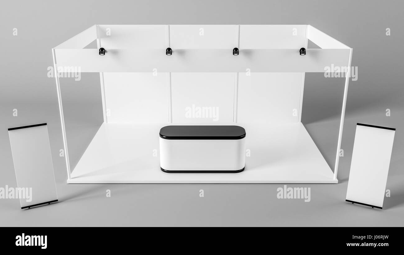 Exhibition Stand Design Template : White creative exhibition stand design booth template