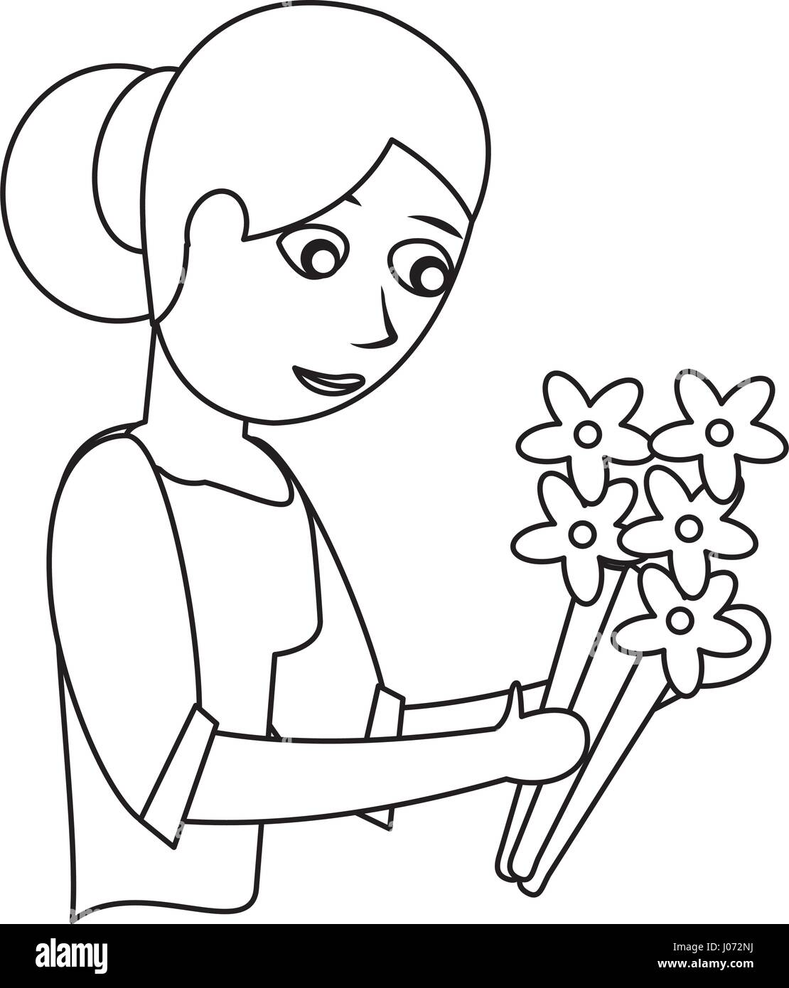 outline of mother