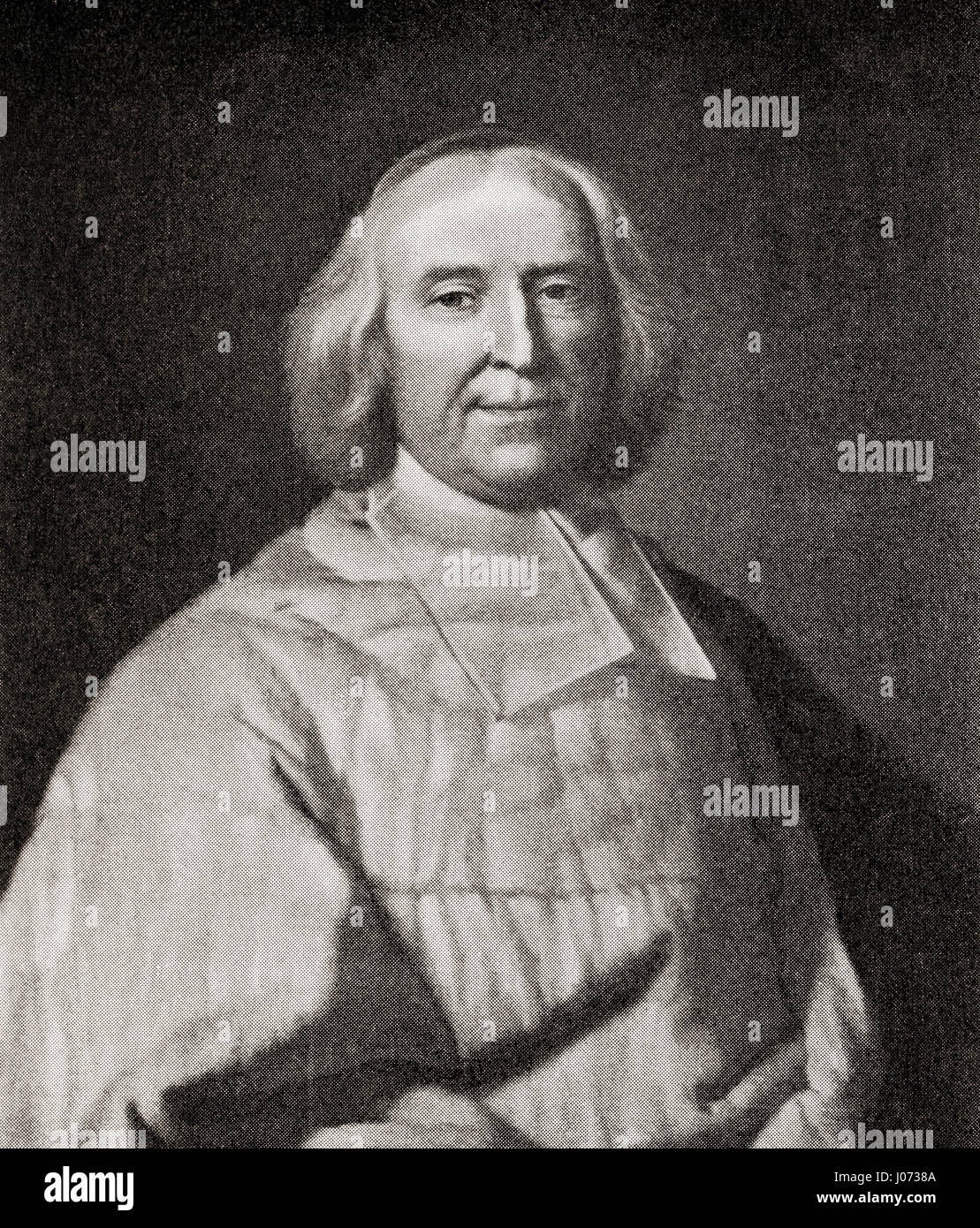 André-Hercule de Fleury, Bishop of Fréjus, 1653 – 1743.  French cardinal and chief minister of Louis XV. - Stock Image