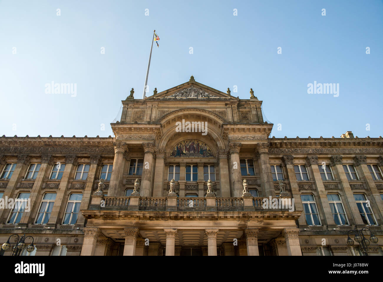 architecture, birmingham, building exterior, cities, city halls, city location, civic, color image, council house, - Stock Image