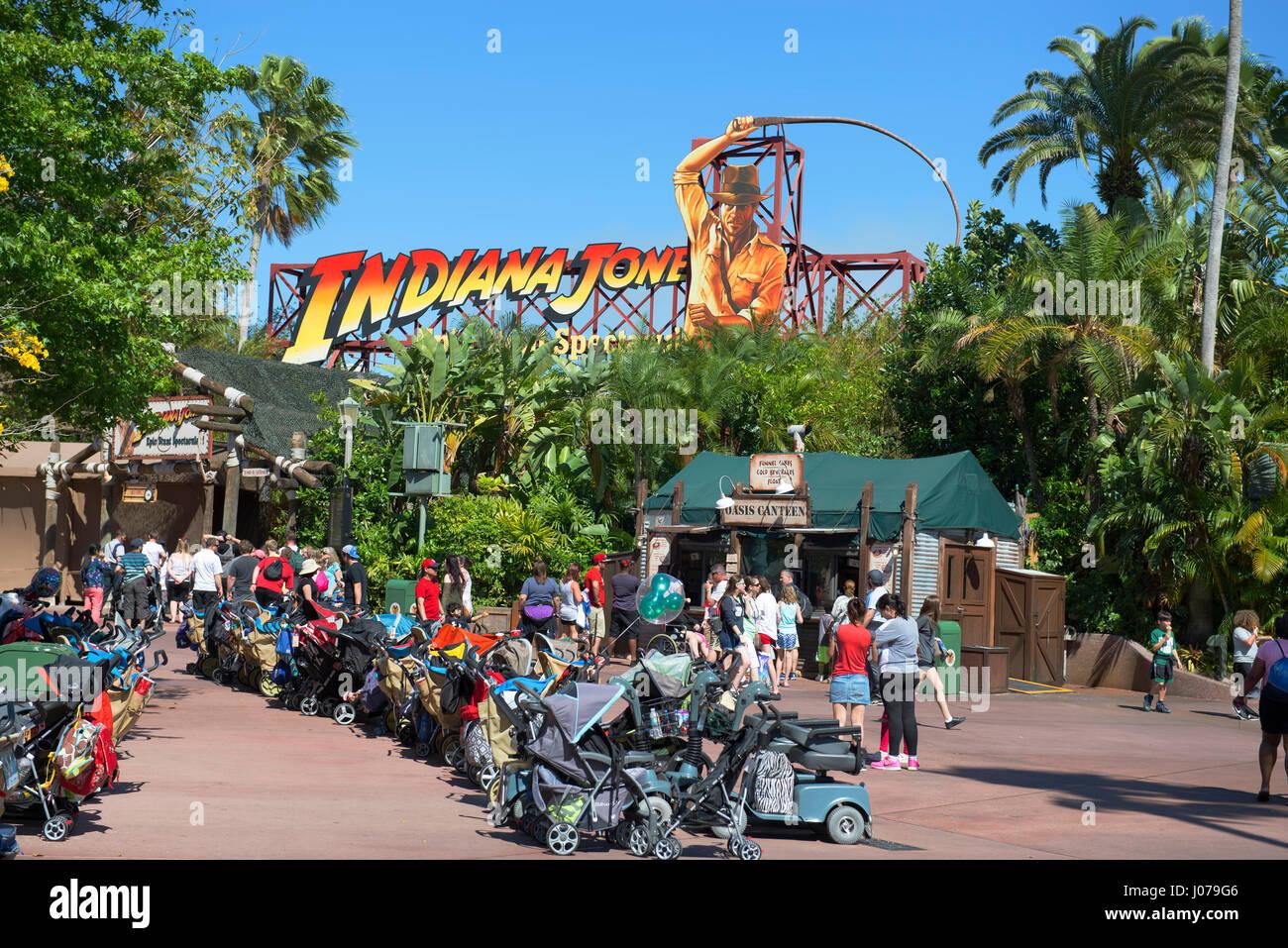 Indiana Jones, Epic Stunt Spectacular, Disney World, Orlando Florida - Stock Image