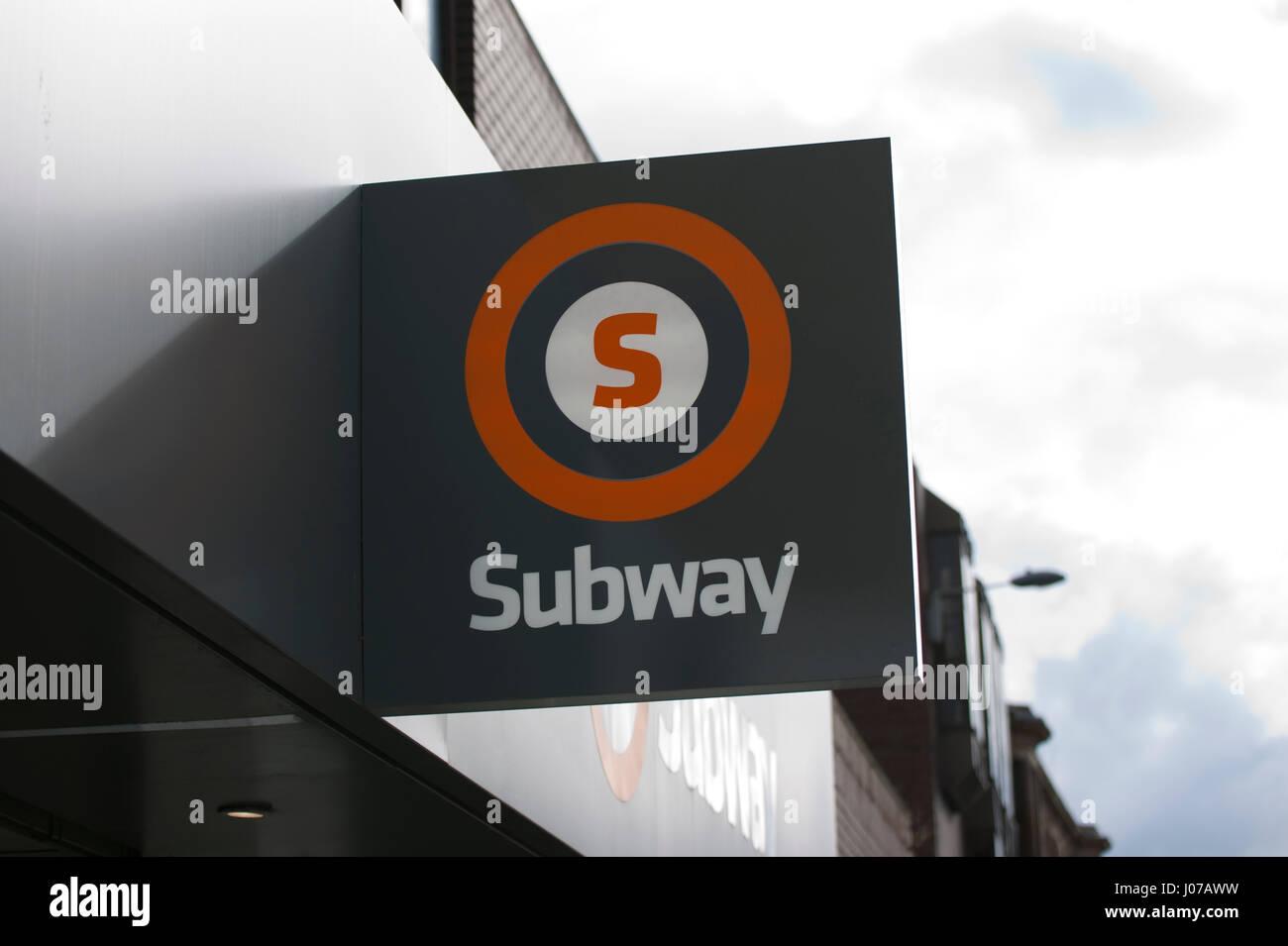 Glasgow Subway and Underground Sign and Branding - Stock Image
