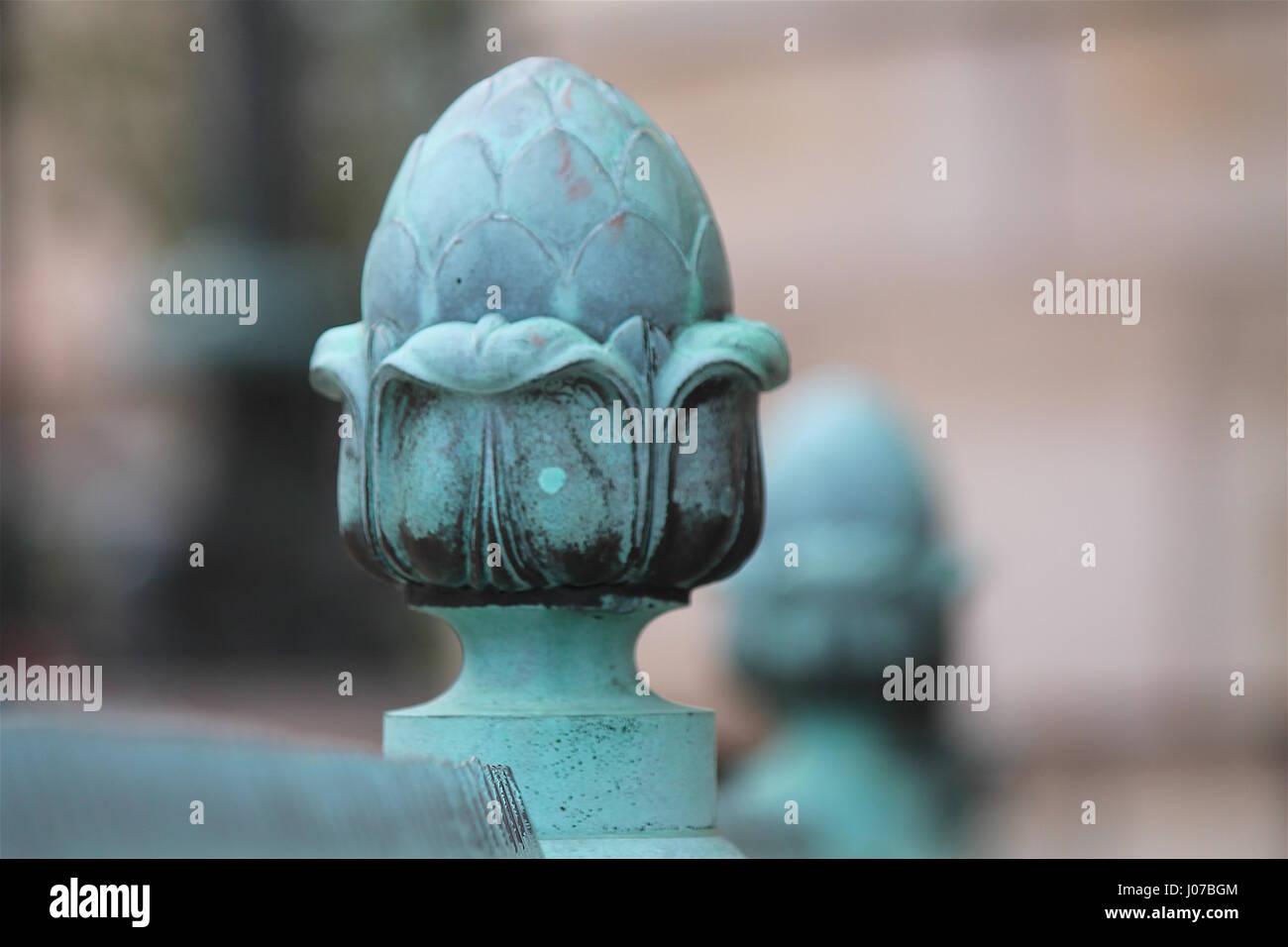 Oxidized Acorn Detail - Stock Image