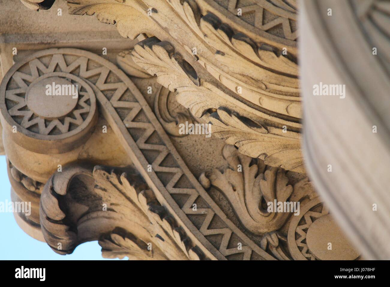 Classical greek architecture exterior Stock Photo